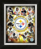 Pittsburgh Steelers 6-Time Super Bowl Champions Framed Photographic Print
