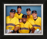 Carlos Beltran, Tom Glavine, Jose Reyes, Paul LoDuca and David Wright 2006 All Star Game Framed Photographic Print