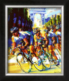 Victory on the Champs-Elysees Art by Malcolm Farley