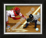 Carlos Ruiz Game 5 of the 2008 World Series Framed Photographic Print