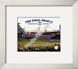 Yankee Stadium 2008 Opening Day With Overlay &quot;The Final Season&quot; Framed Photographic Print