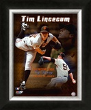 Tim Lincecum 2008 Cy Young Winner Framed Photographic Print