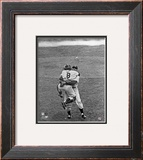 Don Larsen & Yogi Berra Game 5 of the 1956 World Series Framed Photographic Print