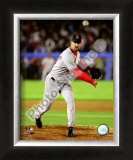 Tim Wakefield 2008 Pitching Action Framed Photographic Print