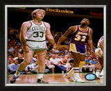Larry Bird and Magic Johnson - ©Photofile Framed Photographic Print