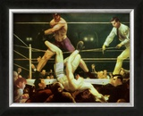 Dempsey and Firpo, 1924 Posters by George Wesley Bellows