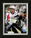 Sidney Crosby & Alex Ovechkin 2008-09 Playoffs Framed Photographic Print