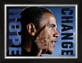 Barack Obama: Hope, Change Prints