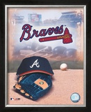 Atlanta Braves - '05 Logo / Cap and Glove Framed Photographic Print