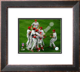 The Philadelphia Phillies celebrating Game Five of the 2008 NLCS Framed Photographic Print