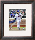 David Wright 1st Mets Hit 2009 Citi Field Inaugural Game Framed Photographic Print