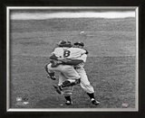 Don Larsen &amp; Yogi Berra Game 5 of the 1956 World Series Framed Photographic Print
