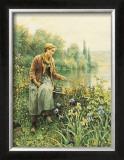 Girl Fishing Posters by Daniel Ridgway Knight