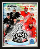 &#39;09 St. Cup Match Up - Pens / Red Wings Framed Photographic Print