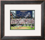 Mark Buehrle '09 Perfect Game Final Pitch with Scoreboard Framed Photographic Print
