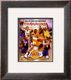 2007-08 LA Lakers Western Conference NBA Champions Framed Photographic Print