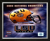 LSU Logo Helmet - 2003 National Champions Framed Photographic Print