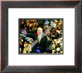 U.S. Sen. John McCain with Republican U.S vice-presidential nominee Alaska Gov. Sarah Palin, Republ Framed Photographic Print