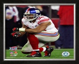 Michael Strahan - Super Bowl XLII Framed Photographic Print