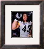 Super Bowl XL - Troy Polamalu Celebratation Framed Photographic Print