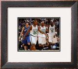 Ray Allen, Paul Pierce and Kevin Garnett Framed Photographic Print