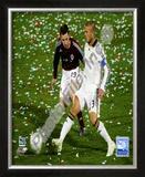 David Beckham 2008 Action, 107 Framed Photographic Print