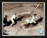 Babe Ruth - Homeplate Action Framed Photographic Print