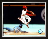 Ozzie Smith - Turning Double Play Framed Photographic Print
