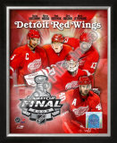 &#39;09 St. Cup - Red Wings &quot;Big 5 &quot; Framed Photographic Print