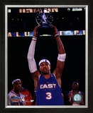 Allen Iverson - 2005 All Star Game - Holds Up The MVP Trophy Framed Photographic Print