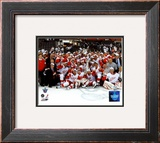 2007-08 Detroit Red Wings Stanley Cup Champions Celebration on Ice Framed Photographic Print