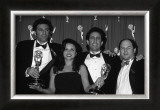 The Cast of Seinfeld with Awards Poster