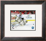 Marc-Andre Fleury in Game 5 of the 2008 NHL Stanley Cup Finals; Action 16 Framed Photographic Print