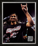 Johnny Damon celebrating, Game 7 win ©Photofile Framed Photographic Print