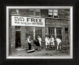 Miniature Golf at Tailor's Shop, 1930 Framed Photographic Print