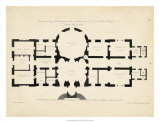 Antique Building Plan I Giclee Print