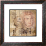 Tribute to Bach Print by Marie Louise Oudkerk