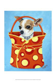 Chihuahua Dots Prints by Carol Dillon