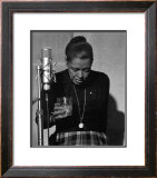 Billie Holiday, Last Recording Session Print by Milt Hinton