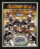 Patriots Super Bowl XXXIX Champions Composite Framed Photographic Print