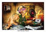 DJ Frank Poster by Adam Perez