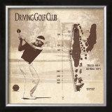 Driving Golf Club Prints