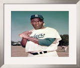 Jackie Robinson - ©Photofile Framed Photographic Print