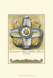 Blue and Yellow Rosette II Posters