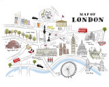 Map of London Affiches par Alice Tait