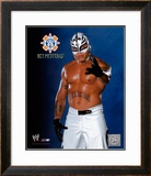 Rey Mysterio 143 - Blue and Black background ©Photofile Framed Photographic Print