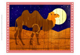 Woodblock Camel Art by Benjamin Bay