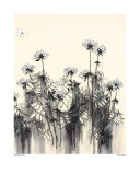 White Flowers Print by Hans Andkjaer
