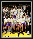 The Los Angeles Lakers Celebrate Game Five of the 2009 NBA Finals Framed Photographic Print