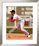 Dustin Pedroia 2008 Fielding Action Framed Photographic Print